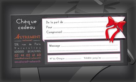 Chèque cadeau - Autrement restaurant - Beauvais
