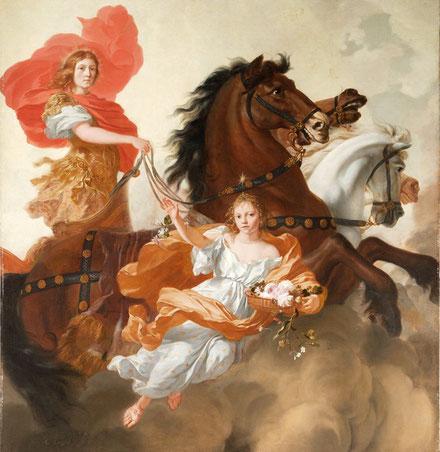 ライレッセ「アポロンとアウロラ」1671年