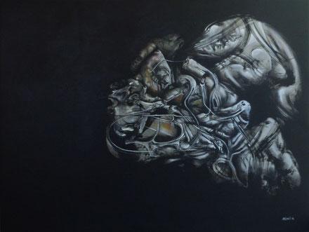 Big bang acrylique sur toile dim: 93cmx130cm