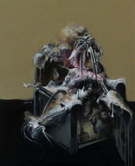 """""""Lion Zion"""" Acrylique sur toile Dim: 92cmx73cm"""