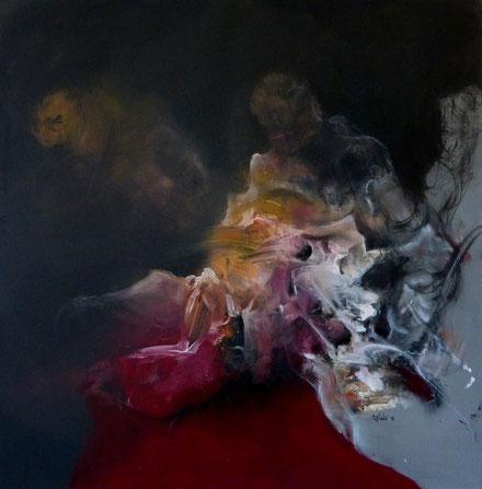 """""""Reviviscence"""" acrylique sur toile Dim: 100cmx100cm"""