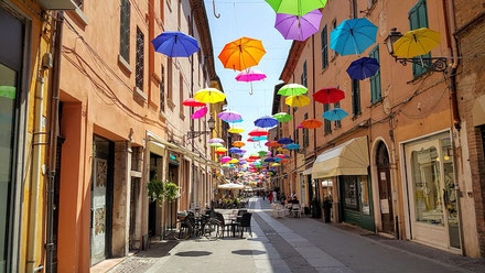 A Street in the City Centre Ferrara Italy private city tour