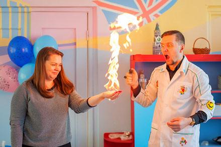 детское химическое научное шоу москва