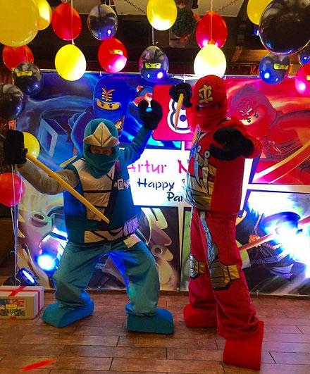 Аниматоры Лего Ниндзя Го на детский праздник и день рождения ребенка Москва