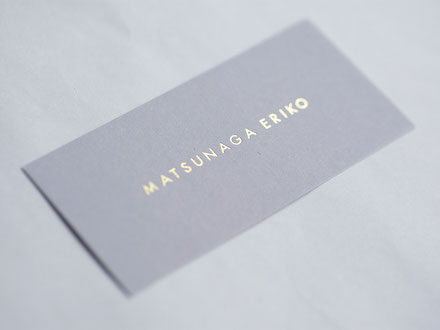 型染め作家 MATSUNAGA ERIKO ブランド下げ札