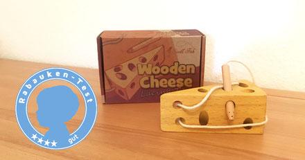 Wooden Cheese Fädelspiel Käse