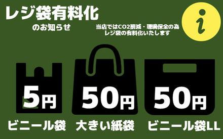 ブックマーケットエーツー豊川店 レジ袋有料