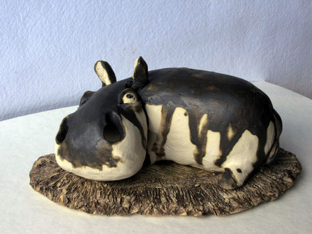 "Räuchertier ""Flusspferd"" aus Keramik, Sfr. 65.-"