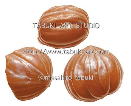 RD2511 マロングラッセ スイーツ 菓子 イラスト