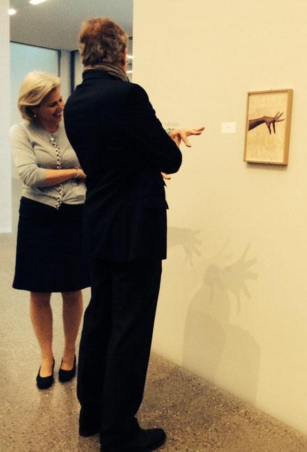 Spielerische Interaktion auf einer Kunstausstellung, 2014