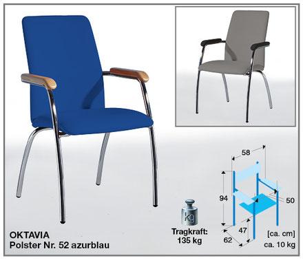 Der Wartezimmerstuhl Oktavia von SIMPEX-OBJEKT erreicht mit seinem Hochrücken das höchste Maß an Komfort und Bequemlichkeit.