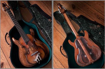 David Bergmann luthier custom carvings wood traum steampunk dieselpunk design unique einzelstück Klangholz mahagoni extraklasse