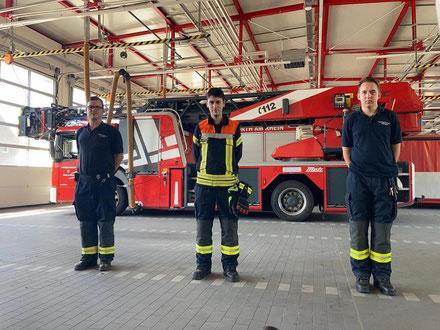 v.l.n.r.: Christian Baumann, Baturalp Arioglu, Tobias Radike