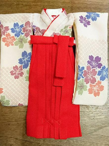 ドール 袴,リカちゃん 卒業,人形 袴