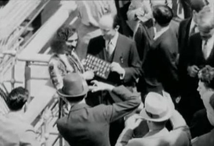 On  board the SS Bremen near New York, 1932