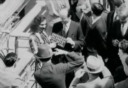 On  board the SS Bremen near New York, 1932