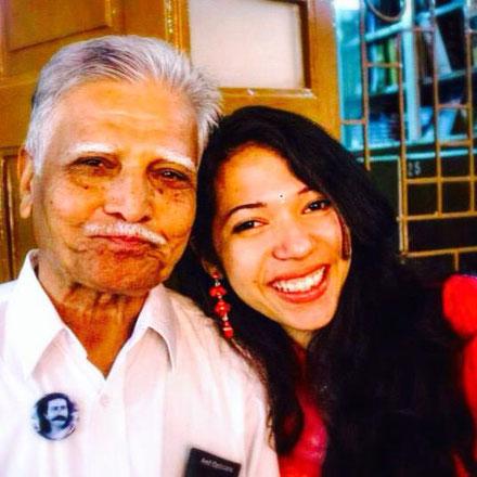 Pratap with Nidhi P Ahir