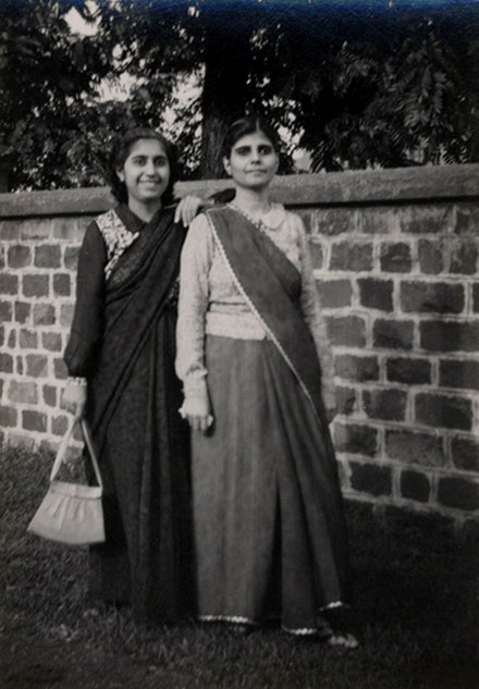 Khorshed Damania and Manu Jessawala, circa late 1940's. Courtesy of the Jessawala Collection - AMB Archives, Meherabad, India.