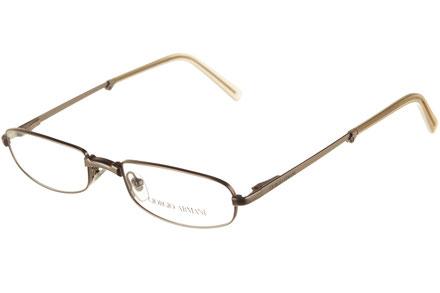 Occhiali da vista uomo Giorgio Armani 1083 815. Colore: argento. Forma: ovale. Materiale: metallo. Pieghevole.
