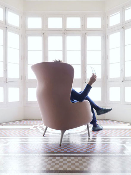 Fritz Hansen fauteuil RO, design Jaime Hayón