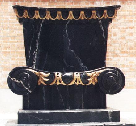 Trono estilo mármol clásico