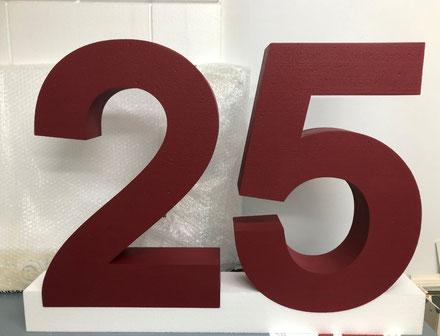 Numero 25 Corporeo con Base (para photocall) evento