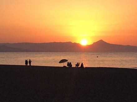Blick vom Restaurante Cova del Mero zum Strand, Fotos: Doreen L., Juli 2016