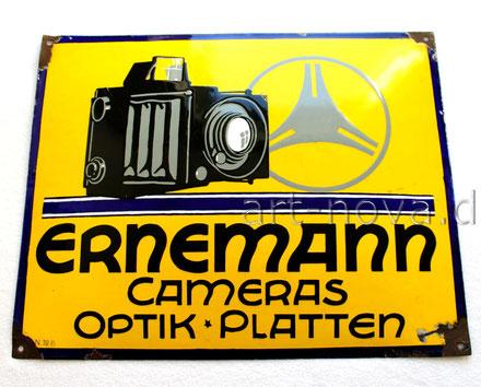 Werbeschild Ernemann Kamera um 1920 in beeindruckender Erhaltung!