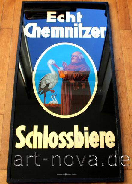 Werbeschild Brauerei Chemnitzer Schlossbiere um 1930