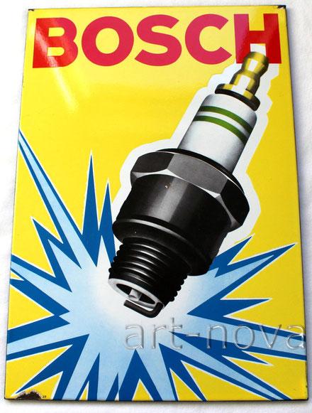 Altes Emailschild Bosch Zündkerzen in wunderbarer Erhaltung!