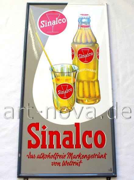 Altes Emailschild Sinalco um 1950 in wirklich traumhafter Erhaltung!