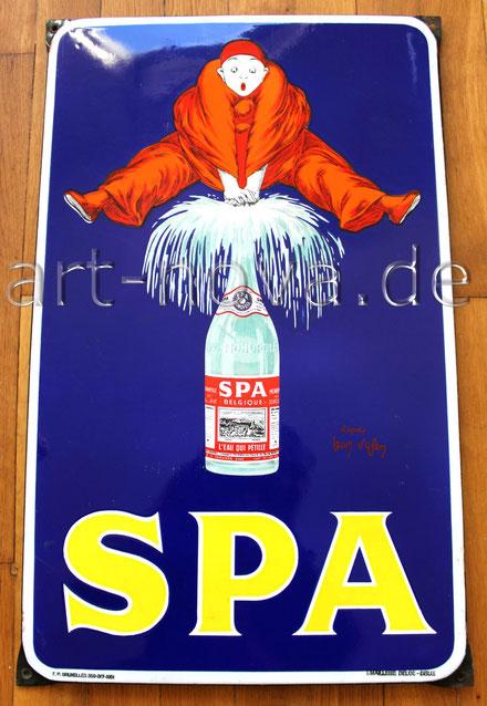 Altes  Belgisches Emailschild von SPA Monopol um 1950 in nahezu perfekter Erhaltung!