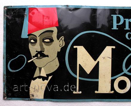 Werbeschild Problem Cigaretten Berlin, ein Original um 1920