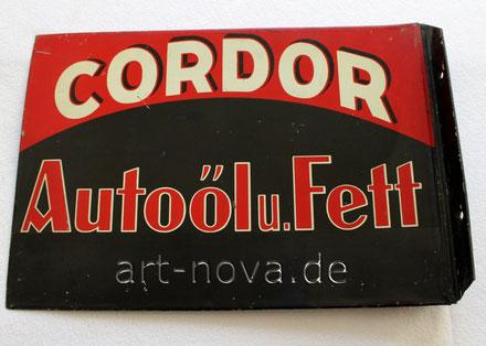 Schild Cordor Autooel und Fett