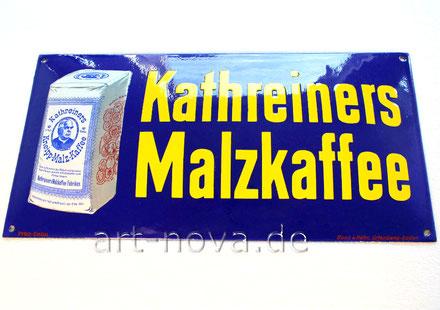 ungalublich gut erhaltenes Emailschild von Kathreiners Malzkaffee