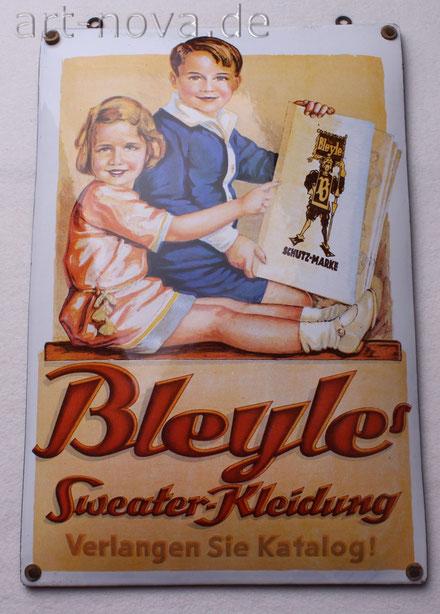 Emailschild Bleyle Sweeter-Kleidung
