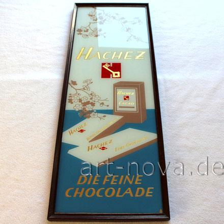 Werbeschild Hachez Schokolade um 1930 in sehr schöner Erhaltung!