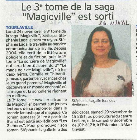 Merci à Louis Leterrier pour cet article (Manche Libre) qui aurait pu me photographier les yeux ouverts, c'est mieux ! lol