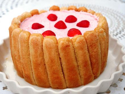 Bild: Rezept Erdbeer Charlotte mit agar-agar
