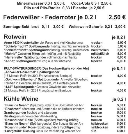 Das Weinausschankangebot in Ahrweiler am Marktplatz vom Ahrweindepot bietet für jeden Gaumen den passenden Ahrwein.