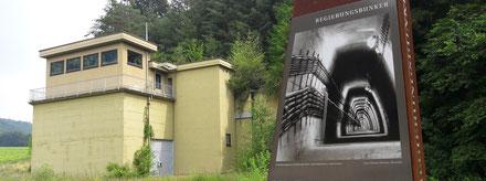 marienthaler Nebeneingang zum Regierungsbunker in Ahrweiler