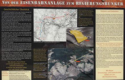 Die Eisenbahnanlage wurde für den Bau des Regierungsbunker in Ahrweiler verwendet.