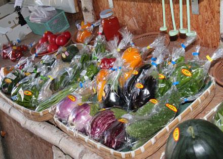 直売所の採れたて野菜