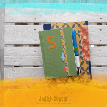 EIN NOTIZBUCH ANFANGEN - WIE SCHAFFE ICH DAS? - WIE DU EIN NOTIZBUCH STARTEST - ANFÄNGER & FORTGESCHRITTENE - Judith Ganter - Illustration Hamburg