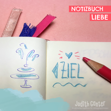 EIN NOTIZBUCH ANFANGEN | WIE SCHAFFE ICH DAS? - FEEDBACK STIMMEN ZUR PRO- & CONTRALISTE | DAS SAGEN DIE ANDEREN - ÜBERSPRUDELND & VOLLER LEICHTIGKEIT | NOTIZBUCHLIEBE IN AKTION - Judith Ganter - Illustration Hamburg