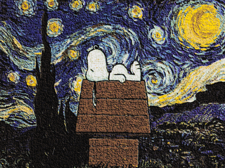 Bild: Snoopy in Van Gogh Gemälde