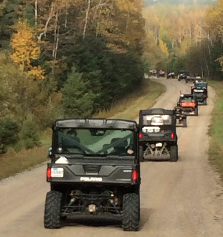 100 ATVs from 6 clubs joined us on a fall color ride with the Voyageur Country ATV club in Buyck, MN