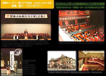 髙橋福八パストガバナー(2570地区2000-01年度ガバナー)歌舞伎座でIM開催(2000年12月14日)