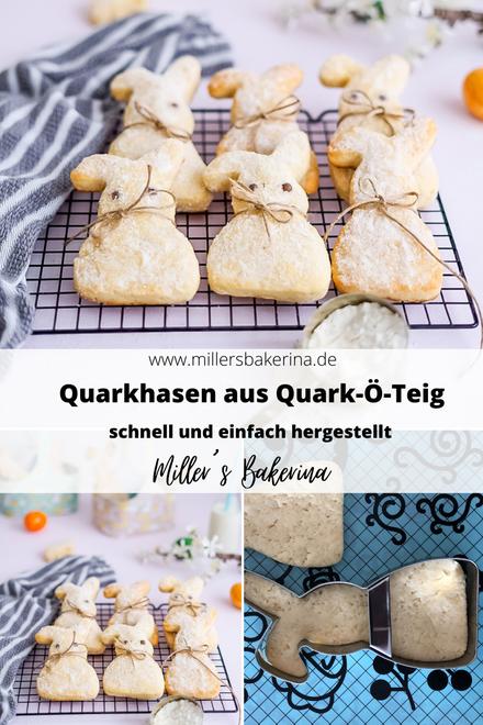 Quarkhasen aus Quark - Öl - Teig