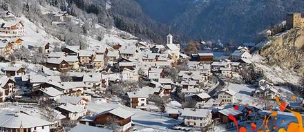 Die Ortschaft Ladis